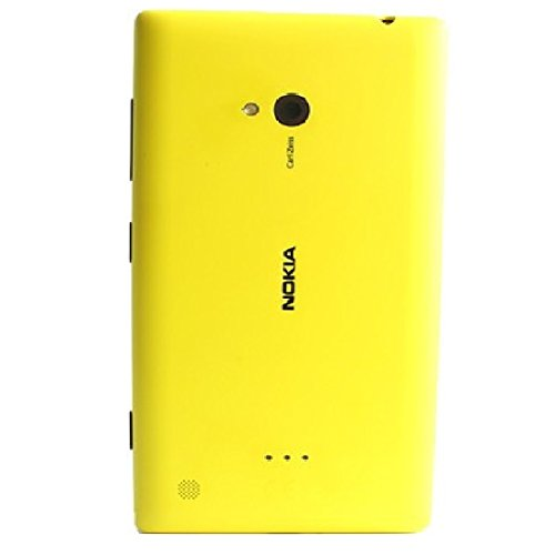 ACEHQ for Nokia Lumia 720(Yellow) Premium OEM Shell Replacement Battery Door Back Cover Back Glass Housing Panel case
