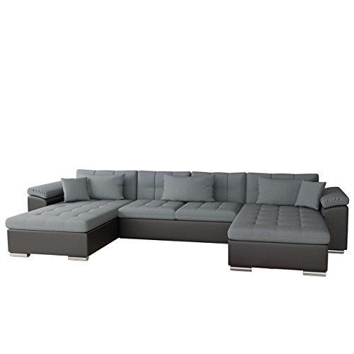 Mirjan24   Ecksofa Wicenza Bris! Elegante Big Sofa mit Schlaffunktion Bettfunktion! Technologie Cleanaboo, Schwerentflammbar, Wohnlandschaft! U-Form, Eckcouch