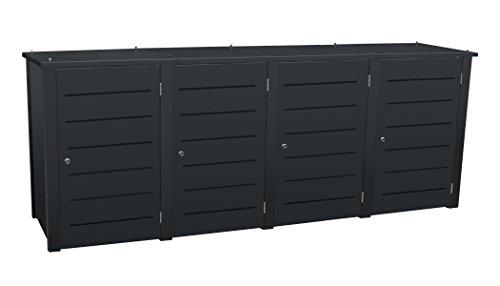 Mülltonnenbox Modell Campa Line für vier 120 Liter Tonnen in Anthrazitgrau