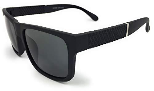 mygoodtime Sonnenbrille Damen Herren Fahrerbrille Eckig Nerdbrille Vintage UV 400 Schwarz
