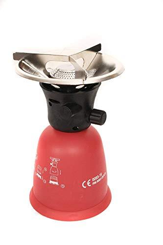 Grodenberg Travelstar l Campingkocher für 190 g Gas-Stechkartuschen. Einfach und effektiv zu verstauen ! Für den Einsatz im Freien !