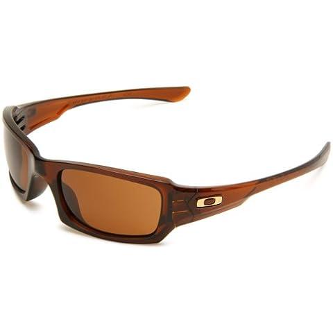 Oakley, Occhiali da sole Fives Squared, Marrone (rootbeer/dark bronze), Taglia unica