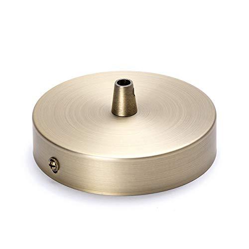 Deckenbaldachin Lampenbaldachin Metall 100x25mm, patina altmessing bronze | inkl. Klemmnippel aus Metall Baldachin Rosette