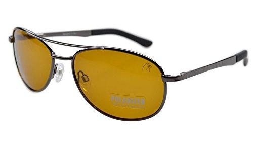 Preisvergleich Produktbild Eyekepper Pilot Federn-Scharnier polarisierte Linse Tag/ Nacht Sicht Fahren Brille Sonnenbrille