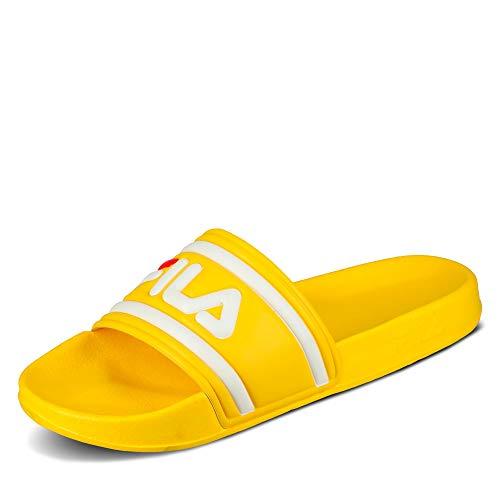 Fila 1010340 Morro Bay Damen Pantolette rutschhemmende Laufsohle mit Bandage, Groesse 40, gelb