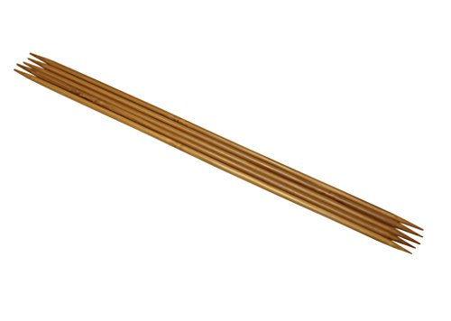 Hiya Hiya 8 Zoll/20 cm x 2,5 mm, mit 2 Spitzen Stricknadeln, aus Bambus, 5 Stück