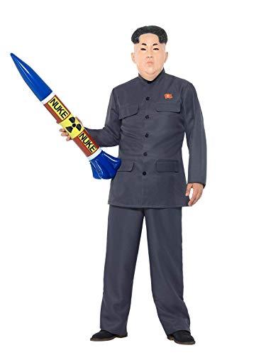 Das Diktator Kostüm - Smiffys SMIFFY 'S 47203X L Diktator Kostüm, grau, XL-UK Größe 116,8cm 48