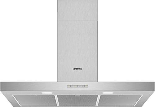 CONSTRUCTA CD639253 Wandhaube/Edelstahl / 90 cm/LED Beleuchtung