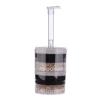 NaiCasy Aquarium-Eckfilter für Aquarien, luftbetrieben, Bioschwamm, Keramik, für Garnelen, Aquarium, XY-2010