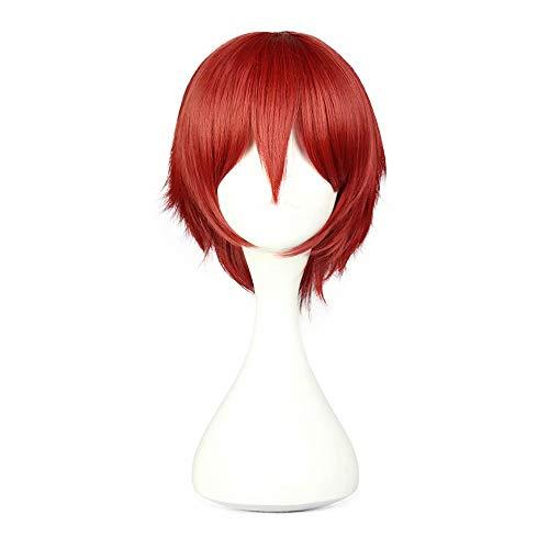 Charaktere Spiel Kostüm - COSPLAZA Unisex Kurz Gerade Rot Anime Convention Fan Kostüm Verkleidung Charakter Spielen Cosplay Perücke