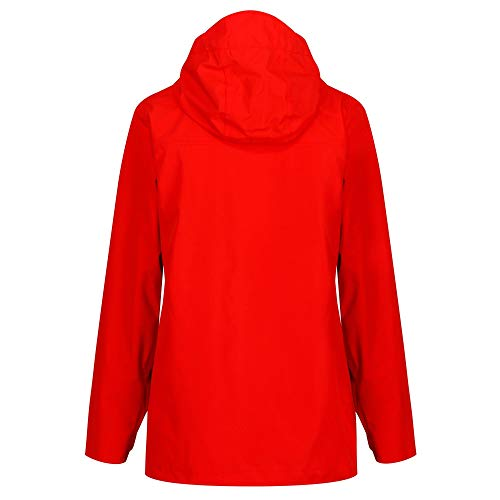 Regatta Women's Basilia Waterproof and Breathable Hooded Outdoor Jacket Back view