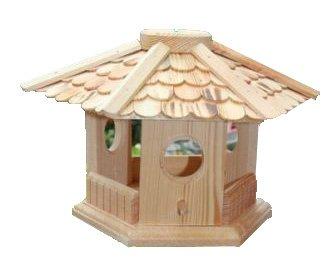 Hikenn Vogelhaus Vogelhäuser Vogelfutterhaus Vogelhäuschen-aus Holz (Natur)