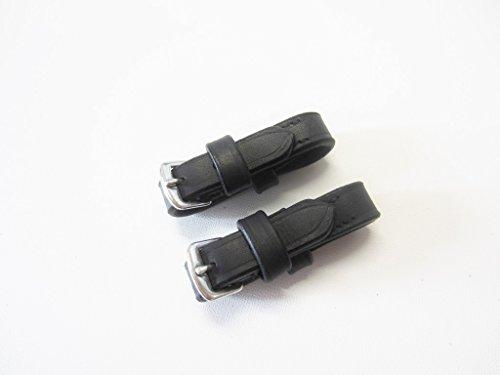 1 Paar klassische Gebissriemchen zum Einschnallen an ein Cavecon oder Kappzaum Farbe schwarz