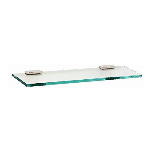 Arch 45,7cm Glas Regal mit Klammern Modern 18 Inch Polierts Nickel -