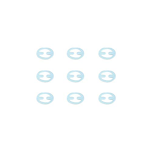 Anjing Antirutsch-BH-Klammer, verstellbar, für Racer-Bänder, 9 Stück, Keramik, farblos, Oval -