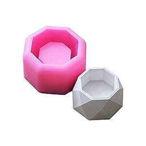 Brightcactus Schimmel Soap 3D Sukkulente Blumentopf Silikon Schimmel Gips Zement Fleischige Blume Bonsai DIY Aschenbecher Kerzenhalter Silikonseifenform