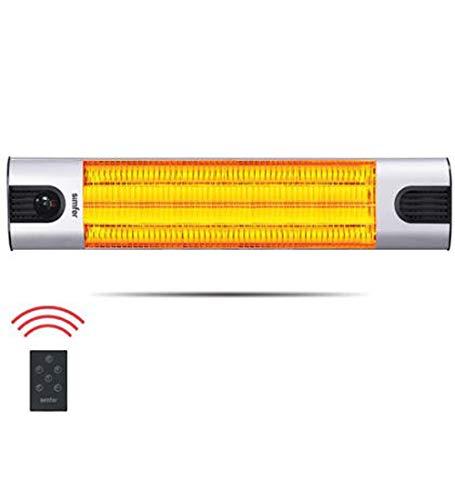 Simfer Infrarot Funk (Fernbedienung) Heizstrahler Wandheizstrahler 2500 Watt mit Fernbedienung, Farbe Silber Eloxiert (S3260WT mit Fernbedienung) -