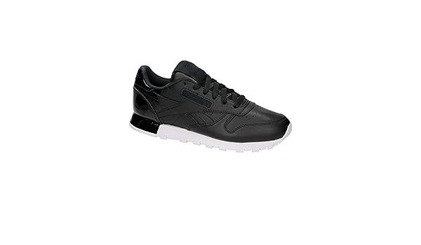 343cf7058f3 Reebok Classic Leather Matte Shine Black  Amazon.co.uk  Shoes   Bags