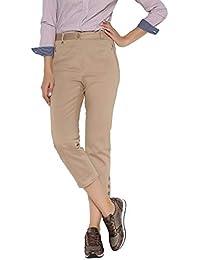 La Redoute Anne Weyburn Donna Pantaloni A Pinocchietto Satin di Cotone  Strech 60cbda48eee