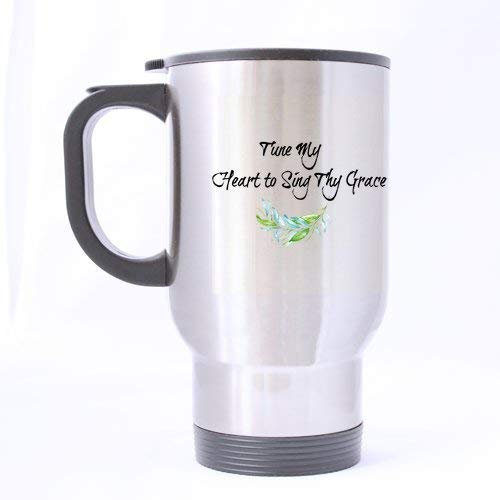 Acme&Real Tune My Heart to Sing Thy Grace Tea Or Coffee Or Wine Cup 100% Stainless Steel 14-Ounce Travel Mug