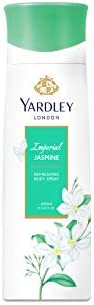 Yardley Imperial Jasmine Body Spray for women, Floral scent with Jasmine and orange blossom fragrance, 200 ml
