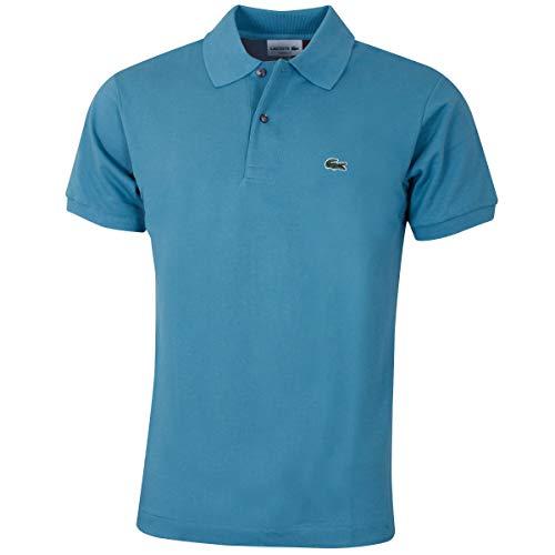 Lacoste L1212 Herren Polo Shirt Kurzarm,Männer Polo-Hemd,2 Knopf,Regular Fit,Tide Blue 1(S6T),Medium (4)