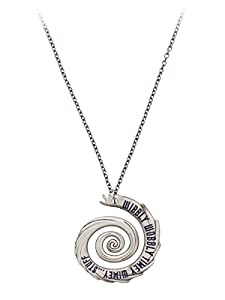 The Doctor Wibbly Wobbly Timey Wimey Silver Tone Pendant Necklace