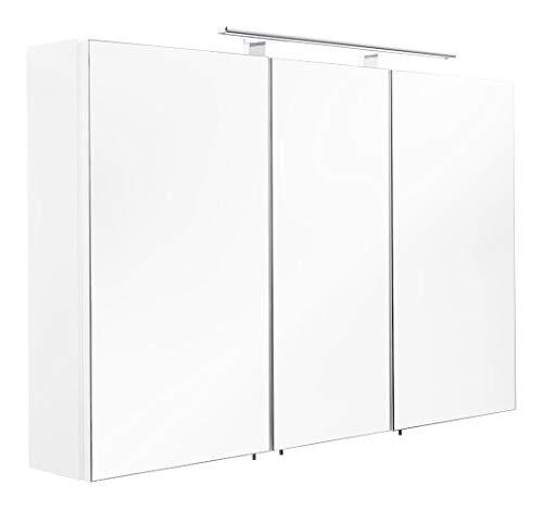 emotion Spiegelschrank 110x68x16cm mit LED Leuchte weiß matt