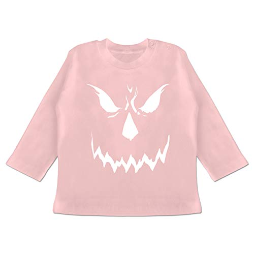 Anlässe Baby - Scary Smile Halloween Kostüm - 3-6 Monate - Babyrosa - BZ11 - Baby T-Shirt Langarm