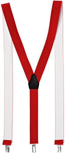 Sencillo Damen Hosenträger Rot mit Schonenden Clips Y-Form Roter Hosenträger