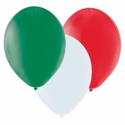 Preisvergleich Produktbild 20 Ballons in Länderfarben Italien grün weiß rot