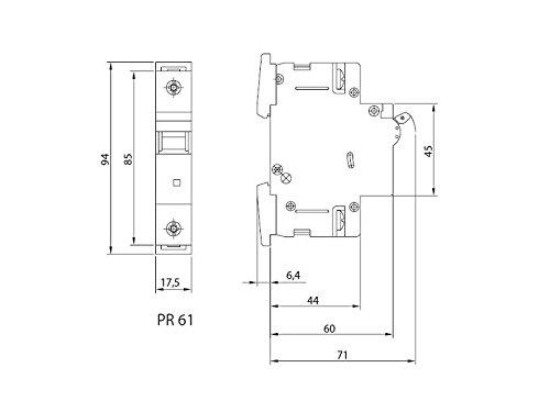 LS-Schalter SEZ C 25A 1-p 10kA VDE Leitungsschutzschalter Sicherungsautomat - 6