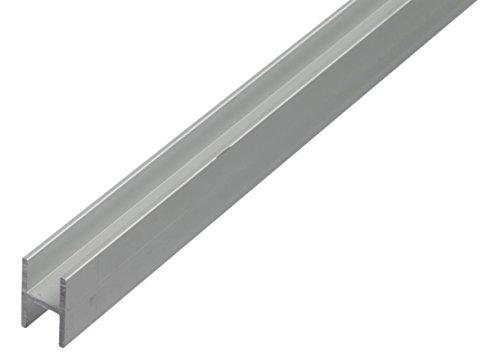 GAH Alberts 473914 Profilé en H Aluminium Anodisé Argent 1000 x 9,1 x 12 mm