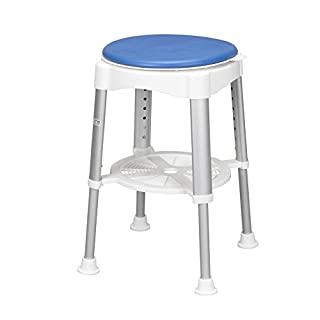 Ability Superstore Bath Stool with Rotating Padded Seat