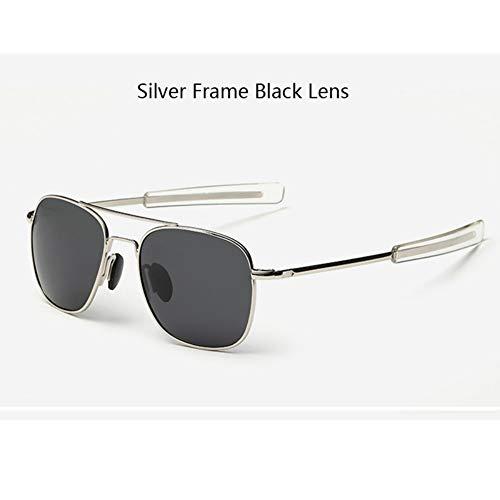 Sonnenbrillen Amerikanische Armee Militärische Piloten Sonnenbrille Mens Marke American Optical Polarisierte Sonnenbrille Outdoor Reisen Sommer Staub Uv400 Silber Schwarz