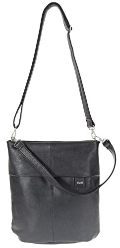 Zwei Mademoiselle M12 Handtasche, Breite ca. 31 cm, Höhe ca. 34 cm, Tiefe ca. 11 cm, Noir (Schwarz) -