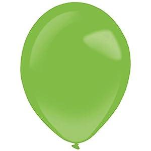 amscan 9905367 50 - Globos de látex estándar, Color Verde