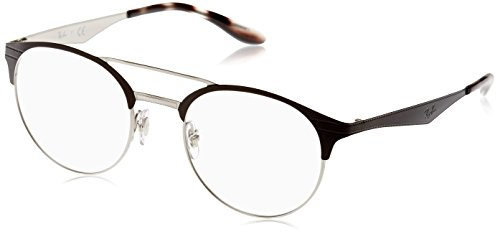 Ray-Ban Herren Brillengestell 0rx 3545v 2861 51, Schwarz (Top Black On Silver)