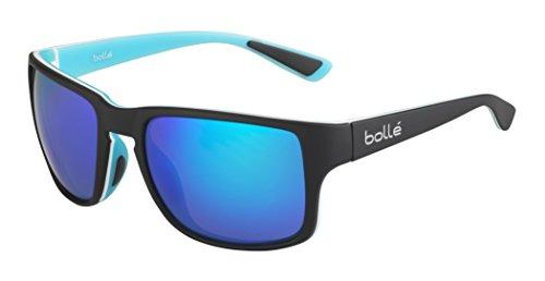 bollé Erwachsene Slate Sonnenbrille, Matt Black Blue, Medium