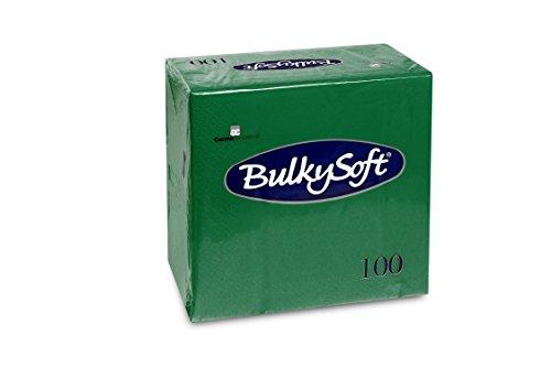 Bulky Soft BS-32033 Servietten 1/4 Falz, 3-lagig, 40 cm x 40 cm, Grün (100-er Pack)