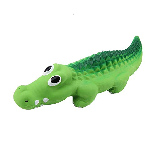 FTVOGUE Latex Krokodil Quietschender Hund Kauen Spielzeug Haustier Katze Spielzeuge -