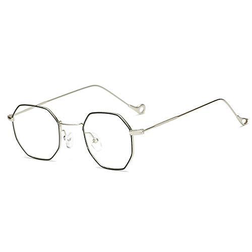 XINJIA Unregelmäßige achteckige Sonnenbrille Retro Metall transparent, Retro Party Sonnenbrille John 60er Jahre Stil Kreis Brille für Party Prop Gefälligkeiten, Dekorationen, Spielzeug Geschenke