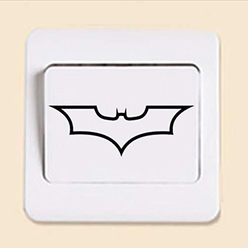 (WFYY Batman Logo Dark Knight Fashion Aufkleber Abnehmbarer Schalter Hausdekoration Wandaufkleber)