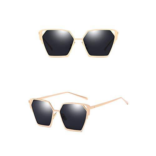 Lafeil Sonnenbrille Clear Damen Sonnenbrille Gold Rahmen Fahrradbrille Gold Grau