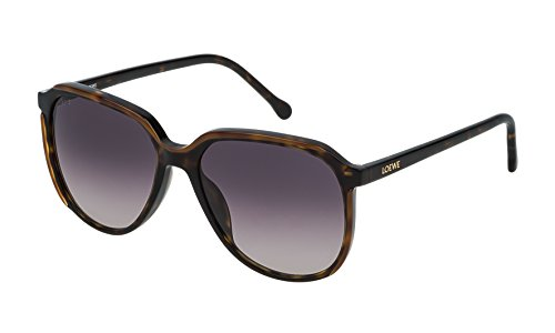 Loewe Damen SLW962M5601EH Sonnenbrille, Braun (Dark Havana+Light Brown), 56