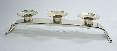 Ochs- Kerzenleuchter - Wolf - 3 Flammig - Bauhaus - versilbert - Länge ca. 30,5 cm