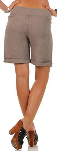 malito Damen Bermuda aus Leinen | lässige kurze Hose | Shorts für den Strand | Pants