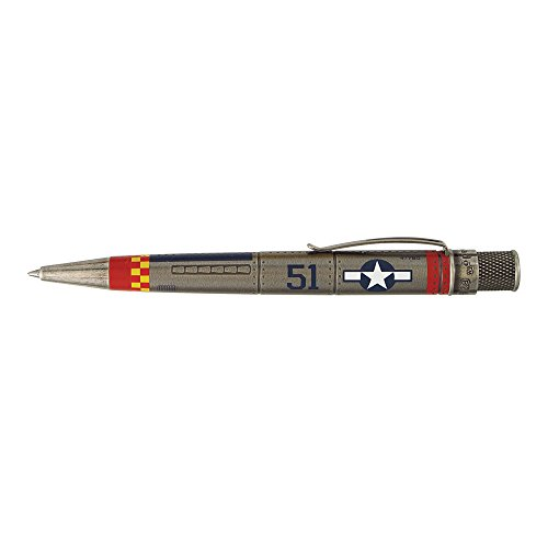 Retro 51 Vintage Metalsmith Collection Rollerball Pen, P-51 Mustang WWII Plane design (VRR-1343) Vintage Tube Top