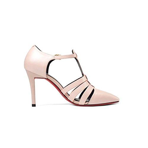 W&LMfine con Con tacco scarpe donna occupazione lavoro scarpa appuntito bocca superficiale scarpe basse Pink