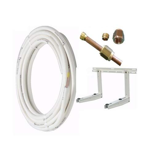 Mono Installationsset für Klimaanlagen mit Kupferschlauch (3m) , 1/4Zoll (= 0,6 cm) + 3/8 Zoll (=0,95 cm),Halterung mit einer Traglast von 80kg